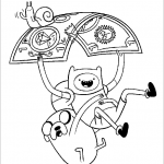 Adventure Time coloringpages -