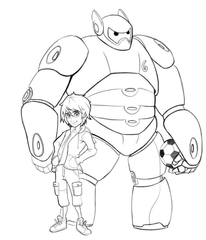Big Hero 6 17 Printable Coloring Pages