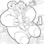 Big Hero 6 coloringpages -